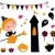 halloween witch girl items icons and design elements stock photo © lordalea