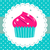 retro party cupcake template stock photo © lordalea