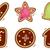 Natale · cookies · set · isolato · bianco · pan · di · zenzero - foto d'archivio © lordalea