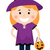Cute · Хэллоуин · ведьмой · девушки · изолированный · белый - Сток-фото © lordalea