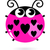 pequeno · joaninha · amor · desenho · animado · ilustração · feliz - foto stock © lordalea