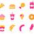 zestaw · kiełbasa · biały · ilustracja · obiedzie · sylwetka - zdjęcia stock © lordalea