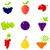 コレクション · 果物 · 液果類 · 抽象的な · ベクトル · デザイン - ストックフォト © lordalea