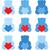 ayarlamak · renkli · kalp · düzenlenebilir · vektör - stok fotoğraf © lordalea