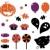 halloween icons and retro elements isolated on white   orange stock photo © lordalea