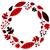 christmas retro holiday wreath isolated on white stock photo © lordalea