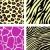 pink yellow animal leopar tiger zebra and giraffe pattern stock photo © lordalea