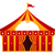 red circus tent isolated on white stock photo © lordalea
