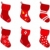 red retro christmas socks collection isolate on white stock photo © lordalea