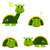 cute green dinosaur set isolated on white stock photo © lordalea