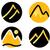 ingesteld · berg · iconen · gouden · stijl · geïsoleerd - stockfoto © lordalea