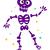 dança · esqueleto · silhueta · dançar · preto · morto - foto stock © lordalea