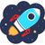 renkli · karikatür · roket · uzay · yalıtılmış · beyaz - stok fotoğraf © lordalea