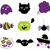 halloween · elemanları · ayarlamak · tatil · toplama · bat - stok fotoğraf © lordalea