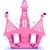 roze · sprookje · kasteel · gras · schoonheid · brug - stockfoto © lordalea