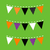 colorful halloween bunting isolated on green background stock photo © lordalea
