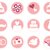 wedding icons in retro style isolated on white pink stock photo © lordalea