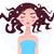 bella · donna · perfetto · faccia · asciugamano · pelle - foto d'archivio © lordalea