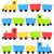 childish cartoon colorful trains isolated on white stock photo © lordalea