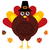 cute retro thanksgiving turkey with hat isolated on white stock photo © lordalea