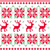 nordic seamless knitted christmas pattern vector red and green stock photo © lordalea