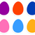 colorful easter eggs collection isolated on white stock photo © lordalea