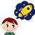 Cartoon · испуганный · мальчика · речи · пузырь · стороны · человека - Сток-фото © lordalea