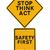 durdurmak · düşünmek · hareket · dur · işareti · güvenlik · hatırlatma - stok fotoğraf © lorenzodelacosta
