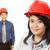 man and woman wearing hardhats stock photo © lorenzodelacosta