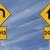ターン · 道路標識 · 青空 · コピースペース · にログイン · 青 - ストックフォト © lorenzodelacosta