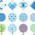 ícone · círculo · colorido · projeto · árvore - foto stock © lossik