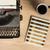 vintage · maszyny · do · pisania · pracy · biuro · tle · notebooka - zdjęcia stock © lostation
