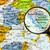 mapa · república · Croácia · lupa · azul · branco - foto stock © lostation