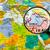 Ásia · mapa · Síria · país · mapas · botão - foto stock © lostation