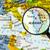 harita · cumhuriyet · Arnavutluk · mavi · beyaz - stok fotoğraf © lostation