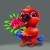 Cute Parakeet Parrot Presenting Flowers for Love - Happy Cartoon Character stock photo © Loud-Mango