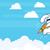 Flying Rocket Rabbit, Progress, Startup Technology, Innovation in Flat Vetor stock photo © Loud-Mango