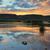 gün · batımı · ağaç · ışık · yaz · göl - stok fotoğraf © lovleah