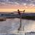 jóga · király · táncos · póz · egyensúly · tenger - stock fotó © lovleah