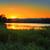 sunset behind blue mountains australia stock photo © lovleah