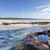 flat rock creek at southern end of hyams beach stock photo © lovleah