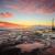 mona vale coastal seascape at sunrise stock photo © lovleah