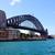 Sydney · puerto · puente · Australia · noche - foto stock © lovleah