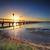 puesta · de · sol · hermosa · largo · playa · cielo · paisaje - foto stock © lovleah