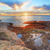 red and green algae covered rocks at sunrise coogee sydney aus stock photo © lovleah
