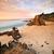 uzun · pozlama · kaya · plaj · fotoğraf · gömülü · kum - stok fotoğraf © lovleah