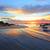 sabah · plaj · plaj · kumu · gündoğumu · gökyüzü · çiçek - stok fotoğraf © lovleah