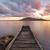 esplosivo · lago · tramonto · pacifica · acqua · nubi - foto d'archivio © lovleah