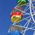vivid ferris wheel and moon stock photo © lovleah