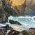 waves at sugarloaf point sea chasm cave stock photo © lovleah